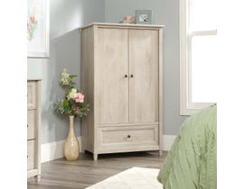 Sauder Edge Water Collection Armoire in Chalked Chestnut 423428