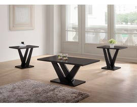 Kwality Imports 3-PC Coffee Table Set in Black 4321