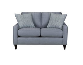 Sofa by Fancy Regent Collection Track Arms Fabric Loveseat Molfino Silver Finish 4351-2