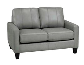 Sofa by Fancy Regent Collection Zurick leather Loveseat Slate Grey finish  4351-2