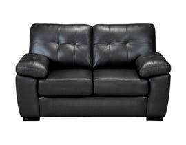 Sofa by Fancy Otis Collection Pillow arms Neptune Leather Loveseat Charcoal finish 4392-2