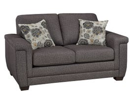SBF Upholstery Zurick Collection Fabric Loveseat in Trapeze 4395