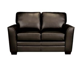 SBF Upholstery Pearson Collection Leather Loveseat Zurick Chocolate Brown 4416