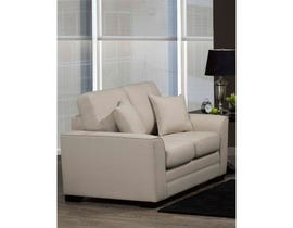 SBF Upholstery Pearson Collection Fabric Loveseat in Turbo Beige 4416