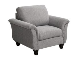 SBF Upholstery Fabric Chair in Troy 60