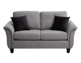 SBF Upholstery Fabric Loveseat in Troy 60