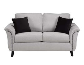 SBF Upholstery Troy Collection Fabric Loveseat 4475