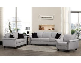 SBF Upholstery Troy Collection 3pc Fabric Sofa Set 4475