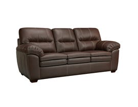 Sofa by Fancy Ethan Leather-Air Sofa in Neptune Chocolate
