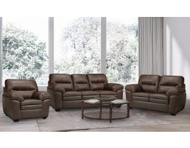 SBF Upholstery Ethan 3-Piece Leather-Air Living room set in Neptune Chocolate