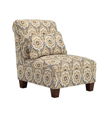 Signature Design by Ashley Fabric Emelen Armless Chair in straw patterned brown 4560046