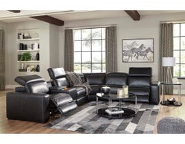 Signature Design by Ashley Mantoya Series 6pc Sectional in Midnight 46303-58-57-31-77-46-62