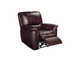 Sofa Express by Fancy Rockwood leather recliner in brown 4708