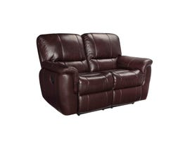 SBF Upholstery Rockwood Leather Love seat in Garda Barun Brown 4708