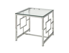 Stein World Winter Palace Side Table in Chrome ST_472-021