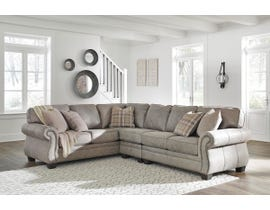 Signature Design by Ashley Olsberg Series LAF Sofa Sectional With Corner Wedge in Steel 48701