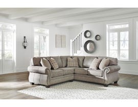 Signature Design by Ashley Olsberg Series RAF Sofa Sectional With Corner Wedge in Steel 48701