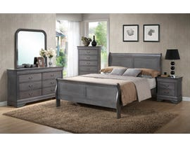 L-Style Furniture Casey Series Bedroom Set in Grey C4934A