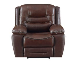 High Society Westchester Collection Leather Power Reclining Chair in Chocolate UWC1312-R-C