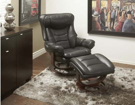 Chateau Imports Reclining Chair and Matching Ottoman Set in Espresso Wood Finish 5001REC-BK