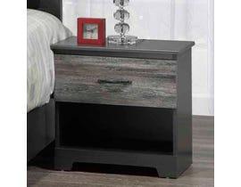Modern Furniture Nightstand in Suede Grey 5020