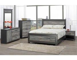 Modern Furniture 6 Piece Queen Bedroom Set in Suede Grey 5020