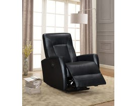 Amalfi Letty Series Leather Look Power Recliner w/USB in Black 5074