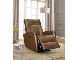 Amalfi Letty Series Leather Look Power Recliner w/USB in Whisky 5074