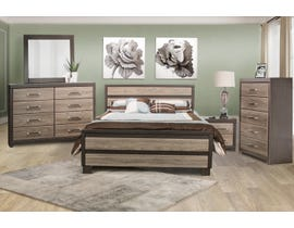 Modern Furniture Engineered Wood 6Pc Bedroom set in Canella & Tuxedo 5100