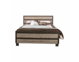 Modern Furniture Engineered Wood Bed in Canella & Tuxedo 5100