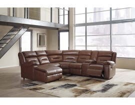 Signature Design by Ashley 7-Piece Reclining Sectional with Chaise in Chestnut 51104S9