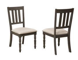 Brassex Claudia Series Dining Chair (Set of 2) in Grey 5142-22