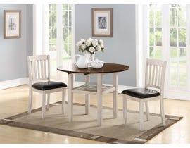Mazin Wooden 3-Piece Dining Room Set in White