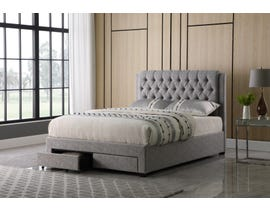 Brassex Storage Platform Bed in Grey 518