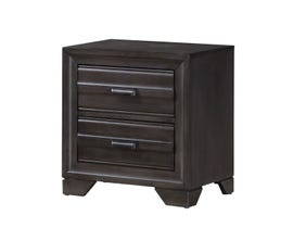 L-Style Furniture Antique Nightstand in Grey C5236A