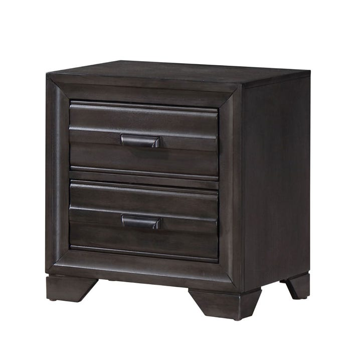 Lifestyle Antique Nightstand in grey C5236A