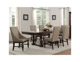 Mazin 7-Piece Fabric Dining Set in Light Brown 5267RF