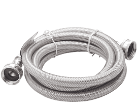 Frigidaire Smart Choice 6' Stainless Steel Drain Hose - (5308816562)