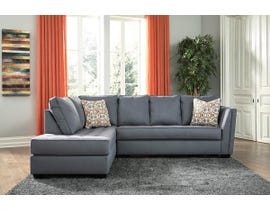 Signature Design by Ashley Filone Series LAF Corner Chaise Sectional in Steel 53401