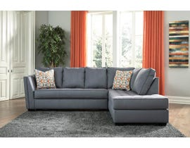 Signature Design by Ashley Filone Series RAF Corner Chaise Sectional in Steel 53401