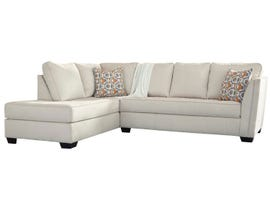 Signature Design by Ashely Filone Series LAF Chaise Sectional Set in ivory 5340216-67