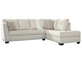 Signature Design by Ashely Filone Series RAF Chaise Sectional Set in ivory 5340217-66