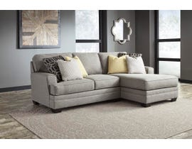 Signature Design by Ashley Cresson Series 2Pc RAF Corner Chaise Sectional in Pewter 54907