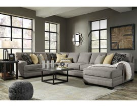 Signature Design by Ashley Cresson Series RAF Corner Chaise Sectional in Pewter 54907