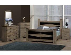 Modern Furniture King Bedroom Set in Continental Coast 5501