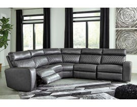 Signature Design by Ashley 5-Piece Reclining Sectional with Power in Gray 55203S1