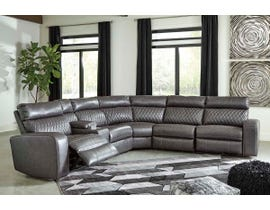 Signature Design by Ashley 6-Piece Reclining Sectional with Power in Gray 55203S2