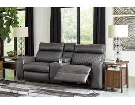 Signature Design by Ashley 3pc Reclining Loveseat with Power in Gray 55203S3