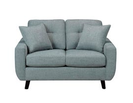 SBF Upholstery Fresno Collection Fabric Loveseat Roma Sea Green finish 5543-2