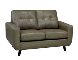 Sofa by Fancy Fresno Collection Zurick Leather Loveseat Cobblestone Brown finish 5543-2